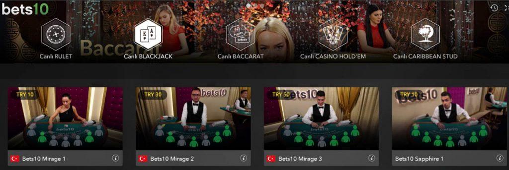 Bets10 Canlı Casino Sitesi İncelemesi