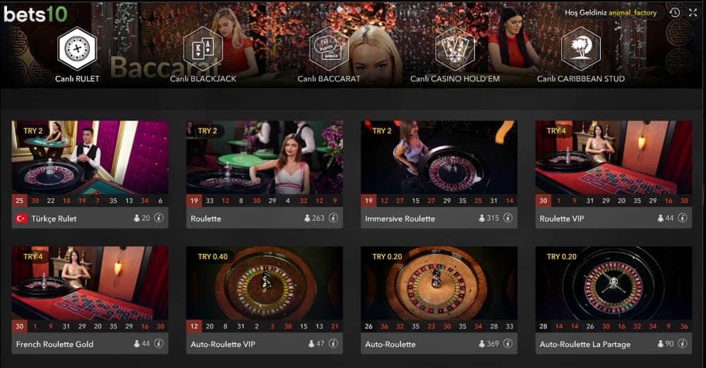 Bets10 Canlı Casino Sitesi Ayrıntılı İncelemesi